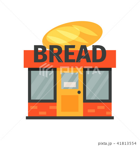 bread shop stage of bread production process on a white background