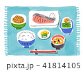 食べ物 朝ごはん 和食のイラスト 41814105