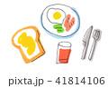 食べ物 朝ごはん 朝食のイラスト 41814106