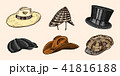 帽子 ハット ビンテージのイラスト 41816188