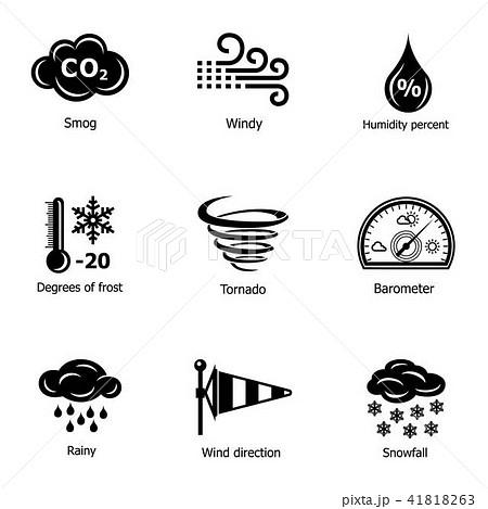 Freezing icons set, simple style 41818263