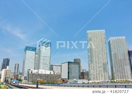 東京 青空の都会風景 41820727