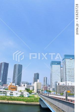 東京 青空の都会風景 41820728