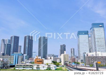 東京 青空の都会風景 41820729