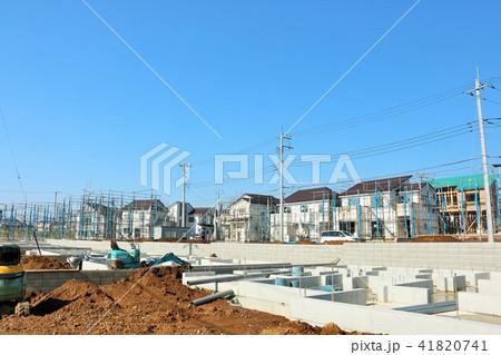 青空の街の建設現場 41820741