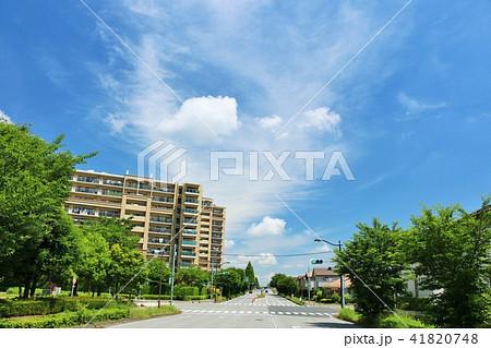青空のマンションと街並み 41820748