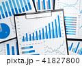 グラフが描かれた多くのビジネスレポート。統計データの収集と分析。 41827800