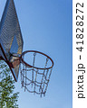 Basketball basket with chains on streetball court 41828272