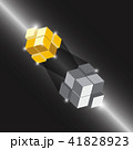 Create 3D cube design element with thunder light 41828923