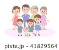 家族 3世代家族 人物のイラスト 41829564