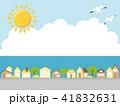 夏 街並み 海のイラスト 41832631