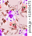 Seamless summer pattern with watercolor flowers 41840475