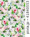 Seamless summer pattern with watercolor flowers 41840553