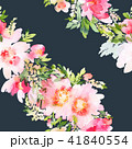 Seamless summer pattern with watercolor flowers 41840554