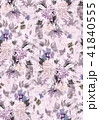 Seamless summer pattern with watercolor flowers 41840555