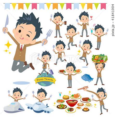 school boy Brown Blazer_food festival 41841004