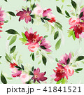 Seamless summer pattern with watercolor flowers 41841521