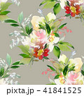 Seamless summer pattern with watercolor flowers 41841525