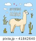 アルパカ 動物 ベクターのイラスト 41842640