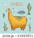 アルパカ 動物 ベクターのイラスト 41842651