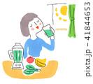 野菜ジュースを飲む女性 41844653