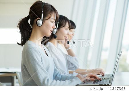オペレーター オフィス コールセンター ビジネス イメージ 41847363