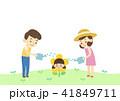 子 子供 お花のイラスト 41849711