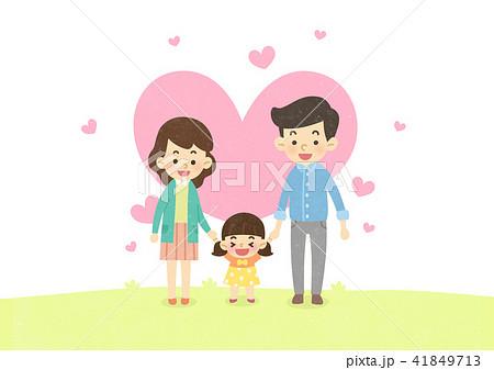 Vector - Enjoy spring season with happy family illustration 007 41849713