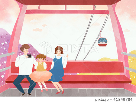 Vector - Go out to the beautiful spring season with family or lover illustration 011 41849784