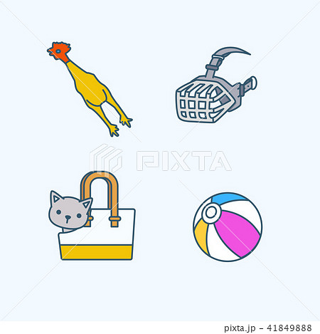 Vector - Set of Pets Related Vector Icons. Flat vector related icon for web and mobile applications 038 41849888