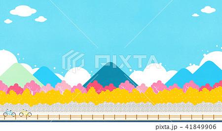 Vector - Beautiful scenes of nature. Springtime flat background 011 41849906