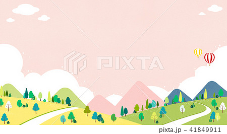 Vector - Beautiful scenes of nature. Springtime flat background 006 41849911