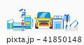 のぼり バナー 車のイラスト 41850148