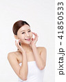 RF photos - beauty portrait of a young woman isolated on white background, concept for health and skin care. 050 41850533