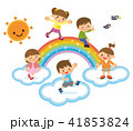 虹と子供たち 41853824
