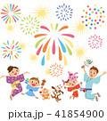 家族で花火を見る 41854900