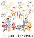 三世代家族で花火を見る 41854903
