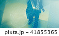 走る 駆ける ビジネスマンの写真 41855365