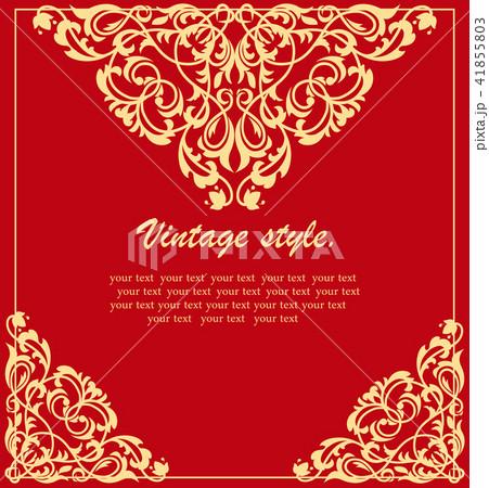 ethnic vintage ornament background invitation のイラスト素材