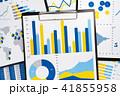 報告書とカラフルなグラフ。統計データの収集と分析。 41855958
