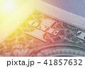 US Dollar bill, super macro, close up photo. Details of bills. 41857632