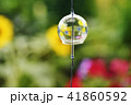 風鈴 夏イメージ 真夏 ふうりん 道具 季節イメージ 花 植物 風物詩 ガラス 夏休み 41860592