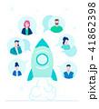 Startup team - flat design style colorful illustration 41862398