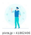 Man in VR glasses - flat design style colorful illustration 41862406
