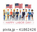 Happy labor day - modern vector colorful illustration 41862426