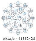 Internet business - modern line design style illustration 41862428
