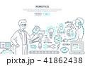 Robotics - line design style illustration 41862438
