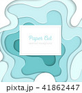 Turquois abstract layout - vector paper cut banner 41862447