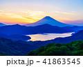富士山 芦ノ湖 夕景の写真 41863545