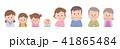 家族 3世代家族 頬杖のイラスト 41865484